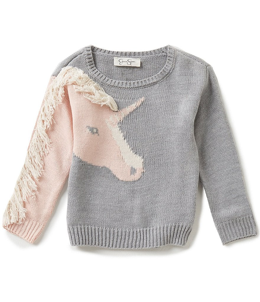 Jessica Simpson Little Girls 2T-6X Monimar Unicorn Sweater