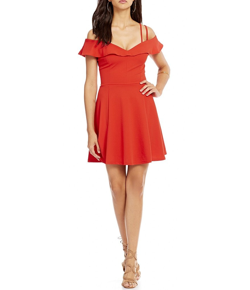 Honey and Rosie Ruffle Off-The-Shoulder Dress