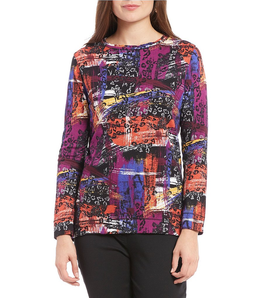 Westbound Crew Neck Long Sleeve Printed Tunic