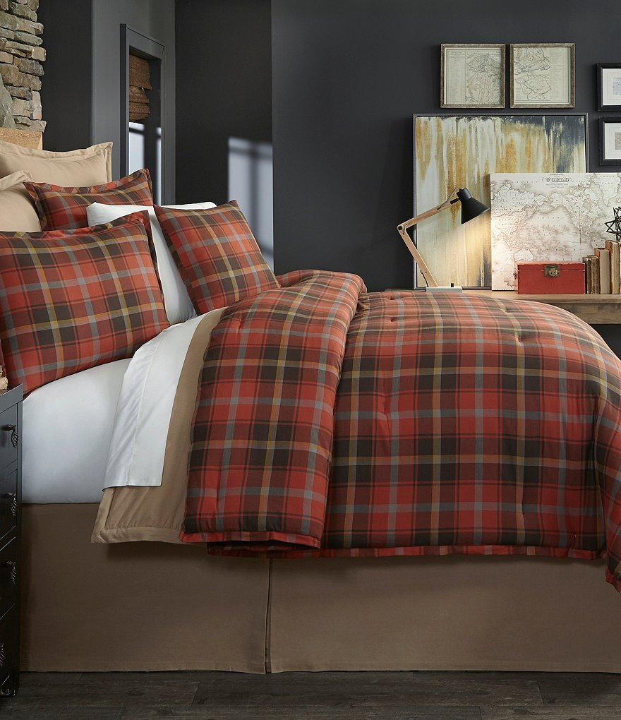 Cremieux Ellison Plaid Flannel Comforter Mini Set
