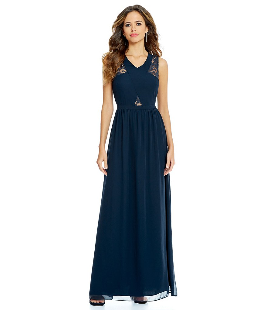 Gianni Bini Geneva Sheer Lace Maxi Dress