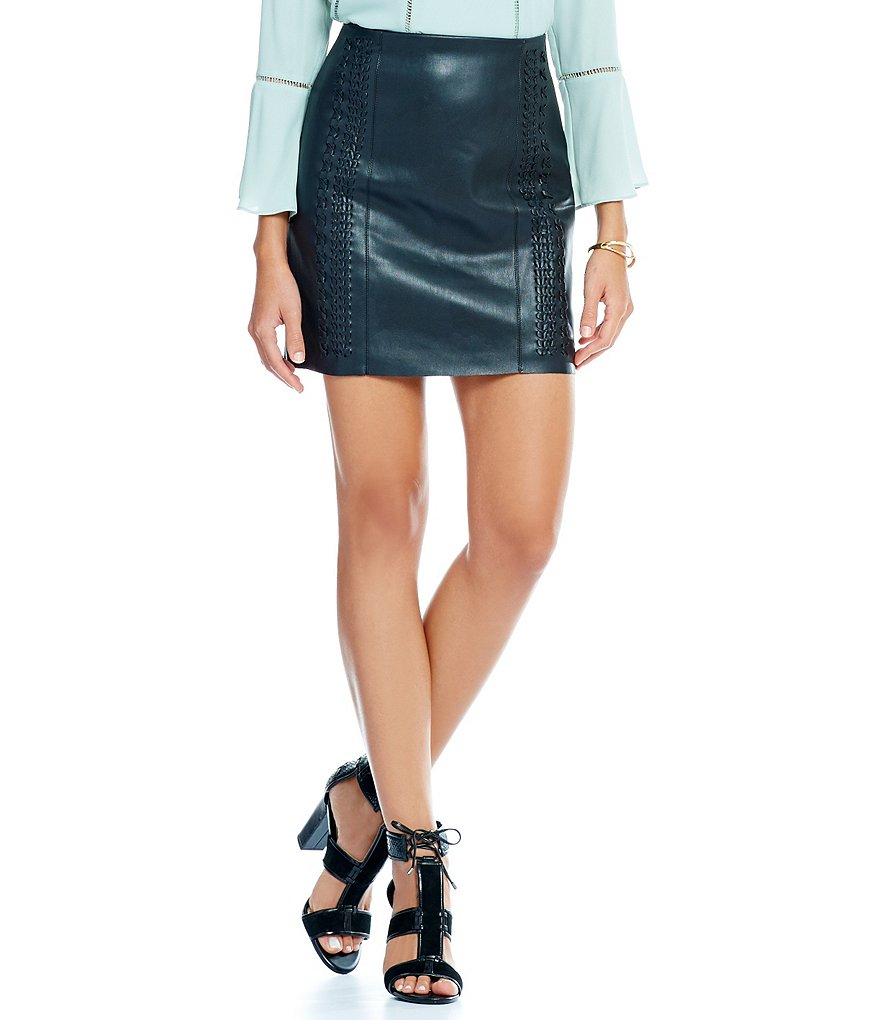 Gianni Bini Sabrina Lace Up Detail Mini Skirt