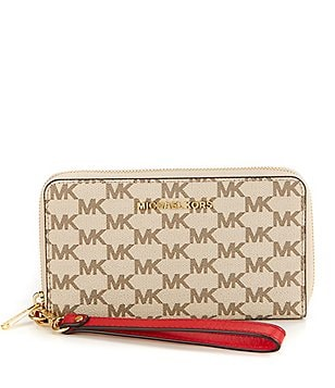 MICHAEL Michael Kors Studio Jet Set Signature Large Multifunction Phone Wallet