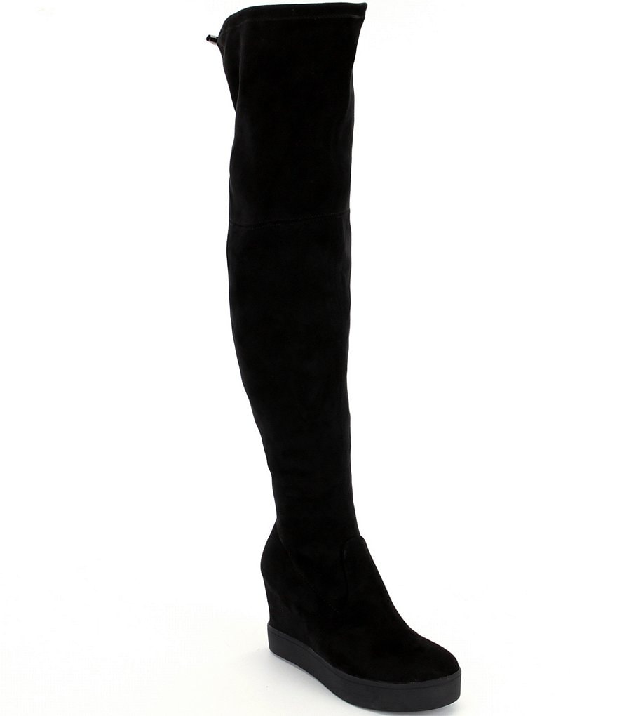 Steve Madden Dutches Microsuede Over the Knee Wedge Boots