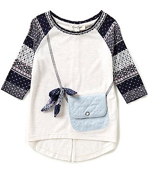 Jessica Simpson Little Girls 2T-6X Ella Purse-Graphic Long-Sleeve Tee