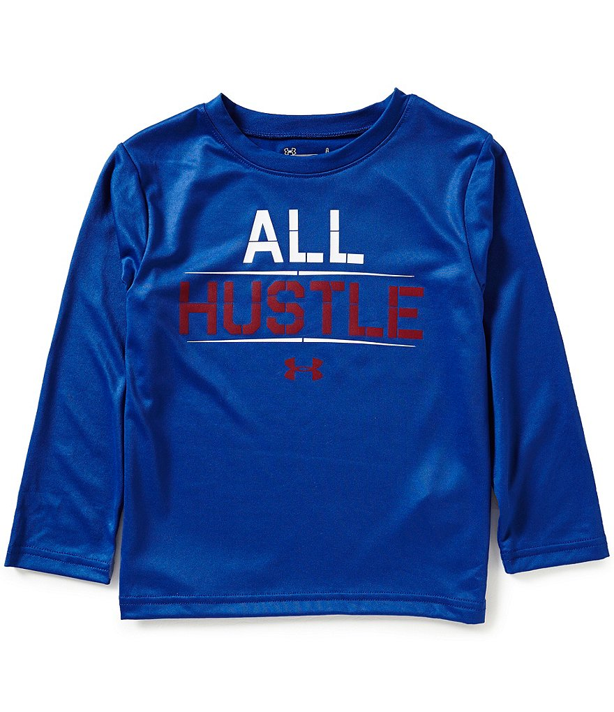 Under Armour Little Boys 4-7 All Hustle Long-Sleeve Tee