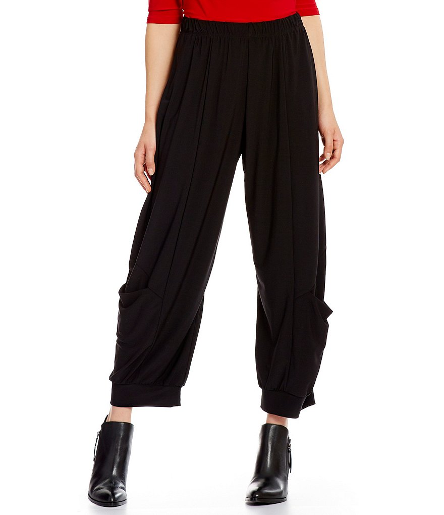 IC Collection Solid Pull-On Harem Pants