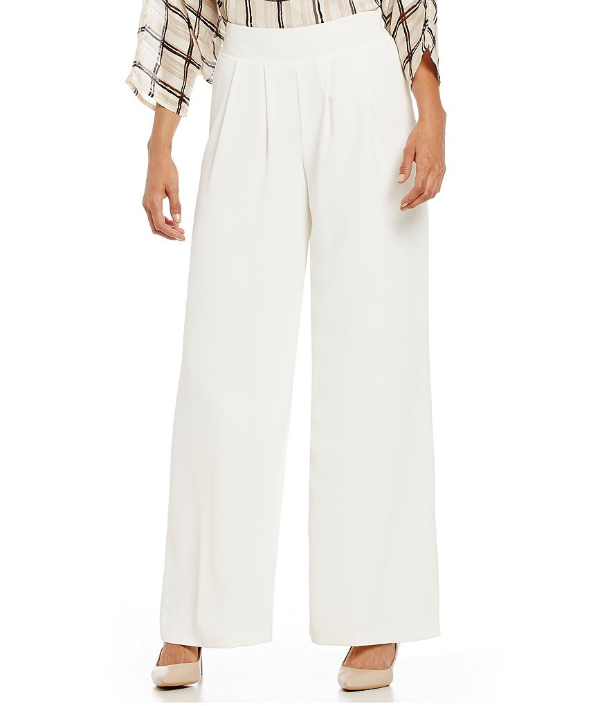 Cremieux Tim Crepe Pleated Wide-Leg Pant