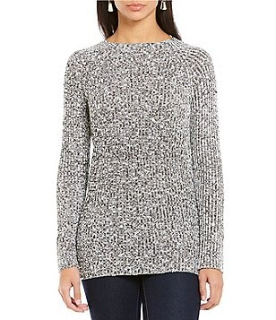 Cremieux Jayla Sequin Knit Long Sleeve Top