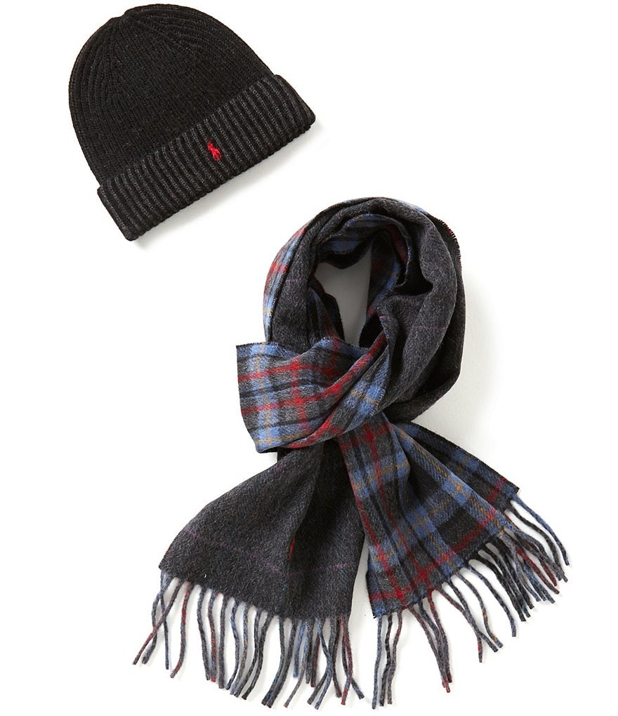 Polo Ralph Lauren Wool Muffler & Ribbed Hat Gift Set