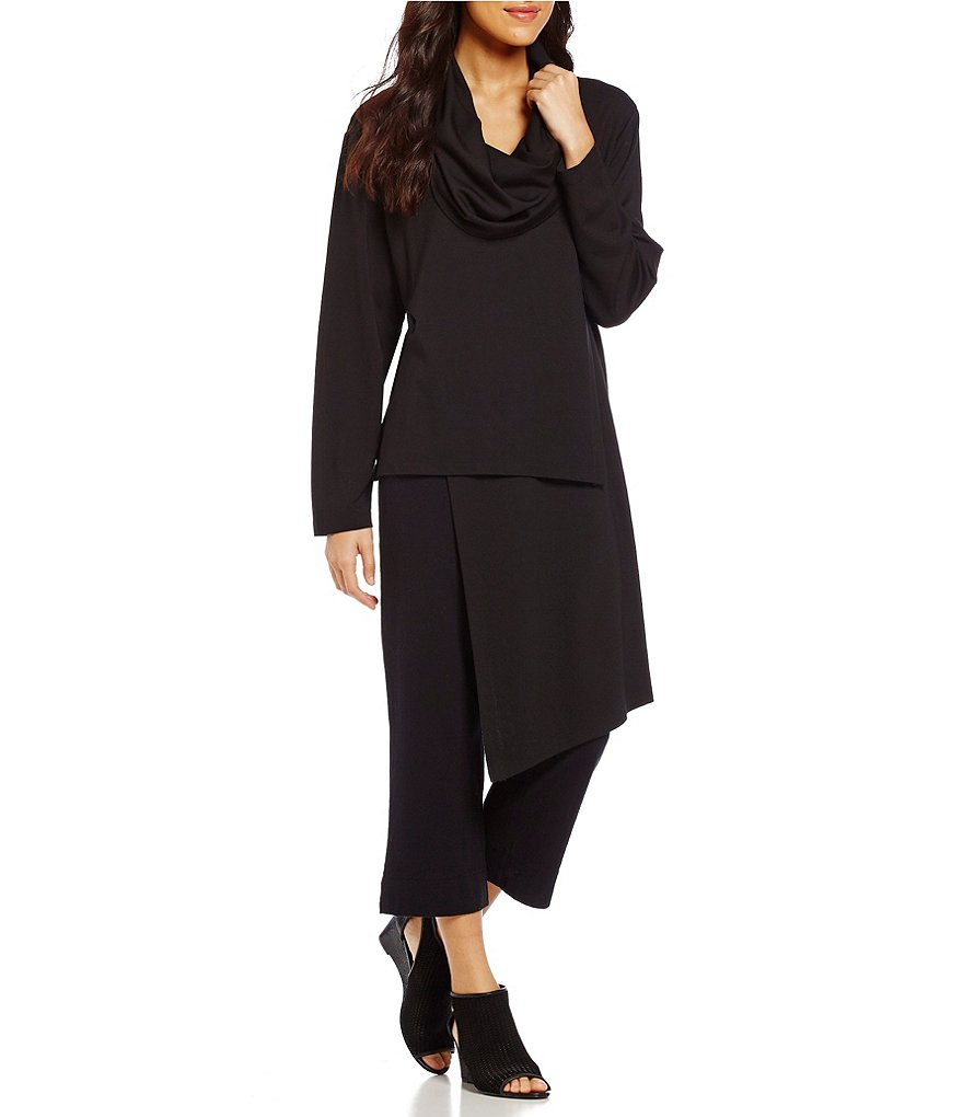 Bryn Walker Pita Funnel Neck Ponte Asymmetrical Hem Tunic