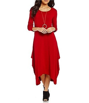 Bryn Walker Chelsea Draped Solid French Terry Dress