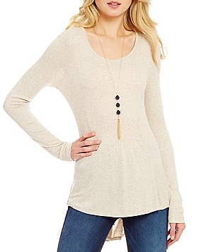 Takara Long Sleeve Tunic Necklace Top