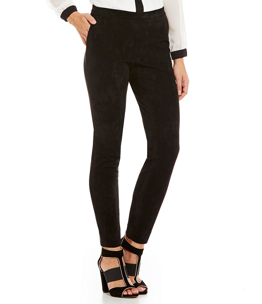 KARL LAGERFELD PARIS Faux Suede Leggings