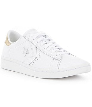 Converse Low Pro Leather Lace-Up Oxford Sneakers