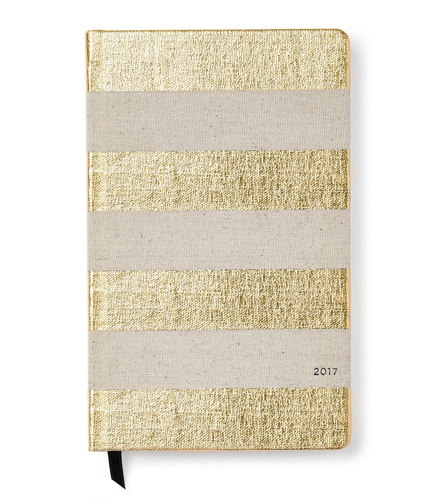 kate spade new york Gold Stripe 12 Month Agenda