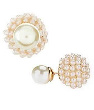Anna & Ava Tiny Pearl Front/Back Stud Earrings