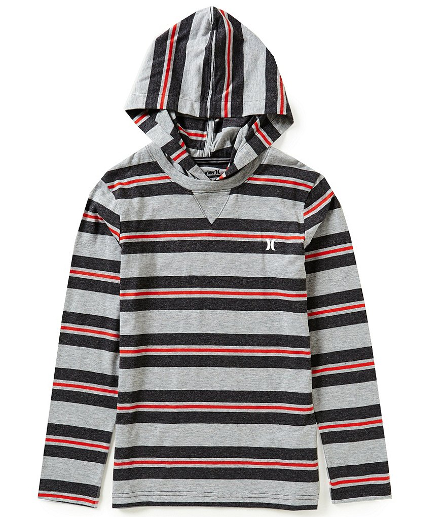 Hurley Big Boys 8-20 Striped Last Call Thermal Hoodie