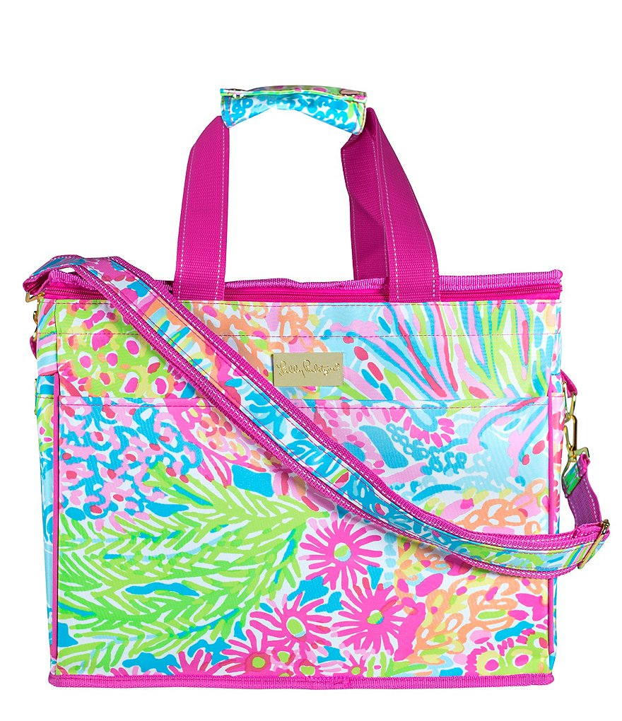 Lilly Pulitzer Lovers Coral Insulated Beach Cooler