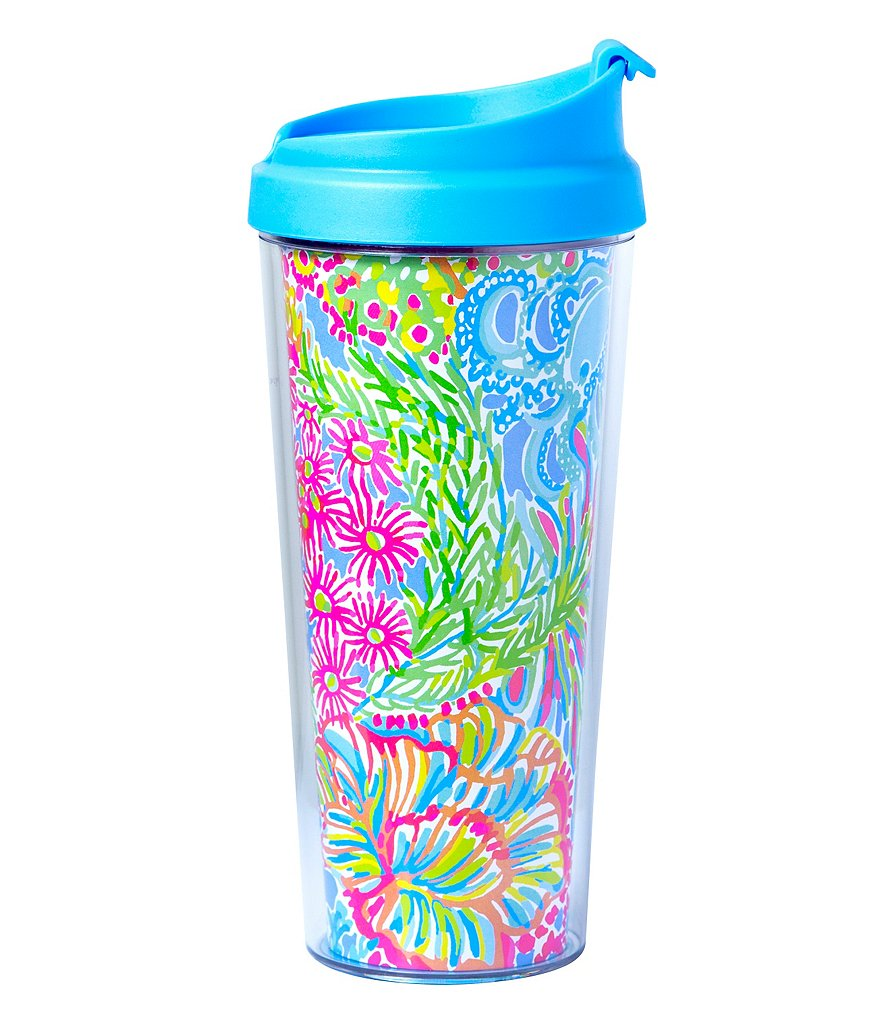 Lilly Pulitzer Lovers Coral Thermal Mug