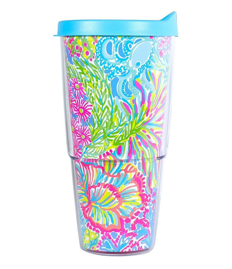 Lilly Pulitzer Lovers Coral Insulated Tumbler with Lid
