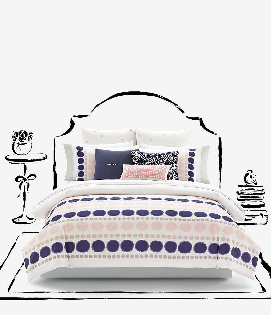 kate spade new york Ikat Dot Cotton Twill Comforter Mini Set