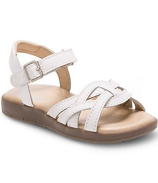 Stride Rite Girl´s Millie Leather Banded Ankle Strap Sandals