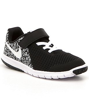 Nike Girl´s Flex Experience PSV Heart Pattern Lace Up Velcro Strap Sneakers