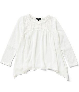 Takara Big Girls 7-16 Lace-Yoke Top