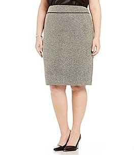 Kasper Plus Tweed Straight Skirt Image