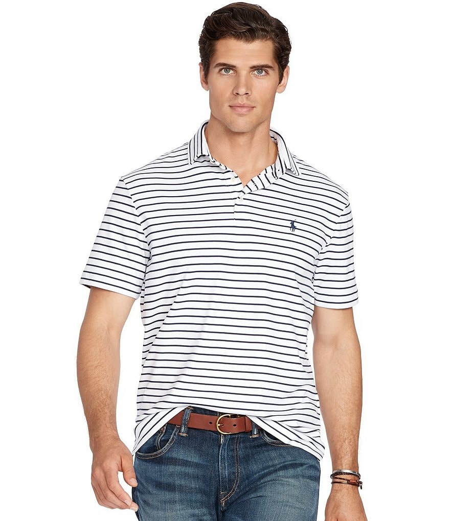 Polo Ralph Lauren Big & Tall Horizontal Striped Pima Soft-Touch Polo Shirt
