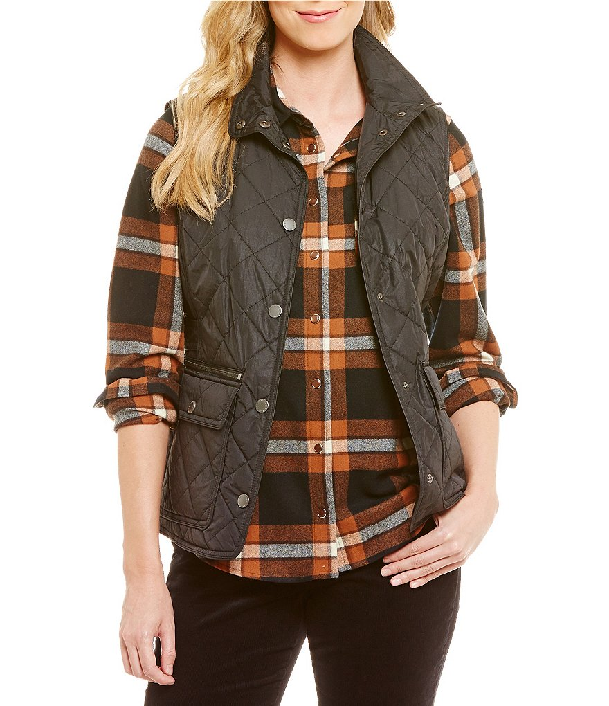 Pendleton Quilted Nylon Snap Front Vest