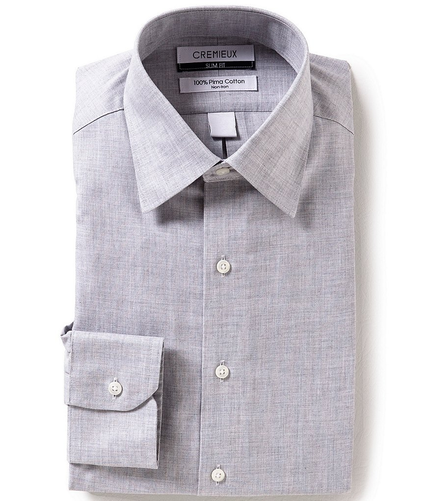Cremieux Non-Iron Slim-Fit Spread-Collar Solid Twill Dress Shirt