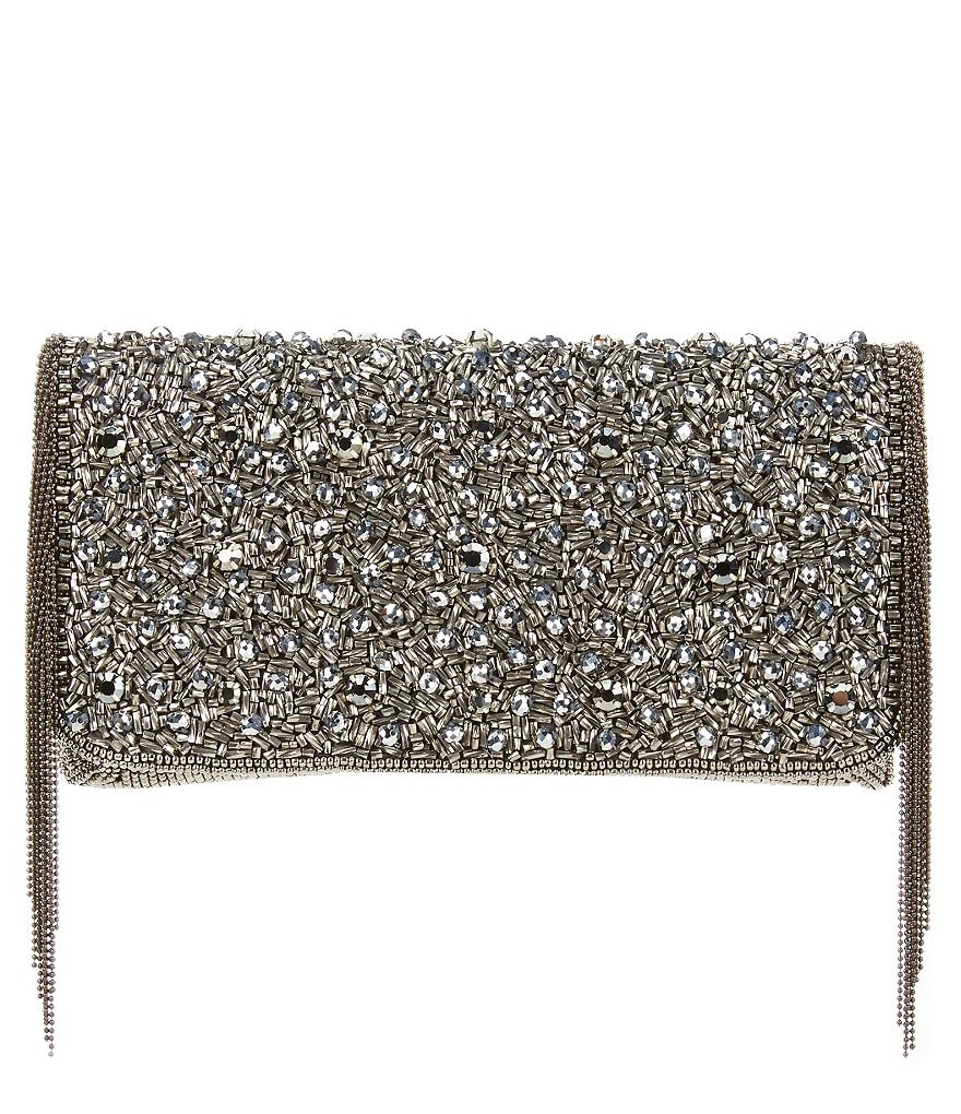 Mary Frances Sway Beaded Fringe Clutch
