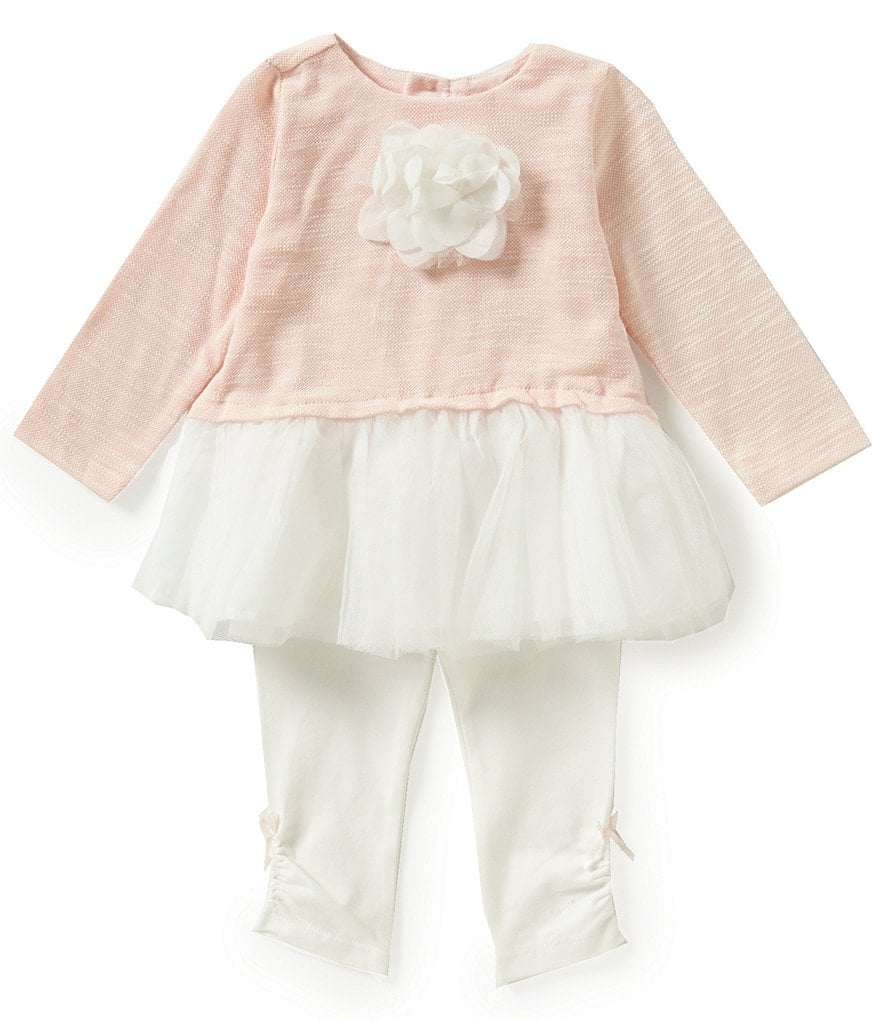 Starting Out Baby Girls 3-24 Months Rosette Detailed Tutu Dress & Leggings Set