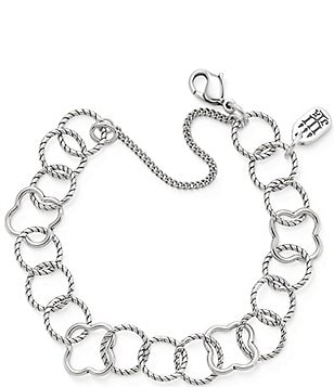 James Avery Quatrefoil Twisted Wire Bracelet