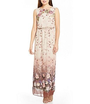 Chelsea & Violet Printed Sleeveless Maxi Dress