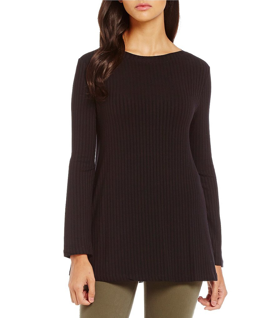 Westbound Petites Long Sleeve Bateau Top
