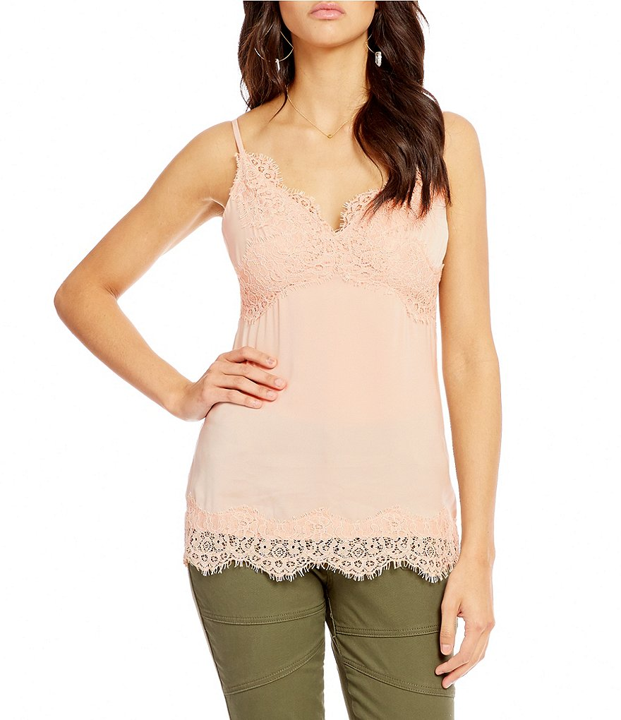 Chelsea & Violet Lingerie TSleeveless Lace Top