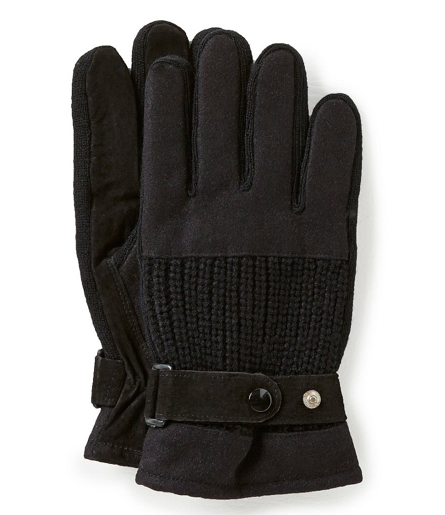 Lake of the Isles Suede Knit Gloves