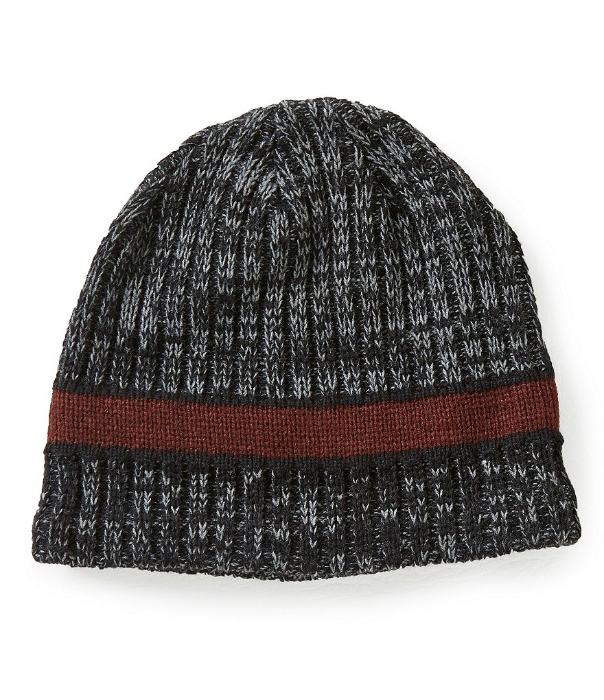 Lake of the Isles Marled Rib Striped Beanie