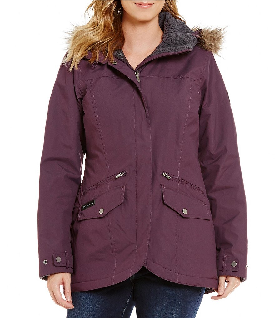 Columbia Grandeur Peak Waterproof Faux-Fur Hood Jacket