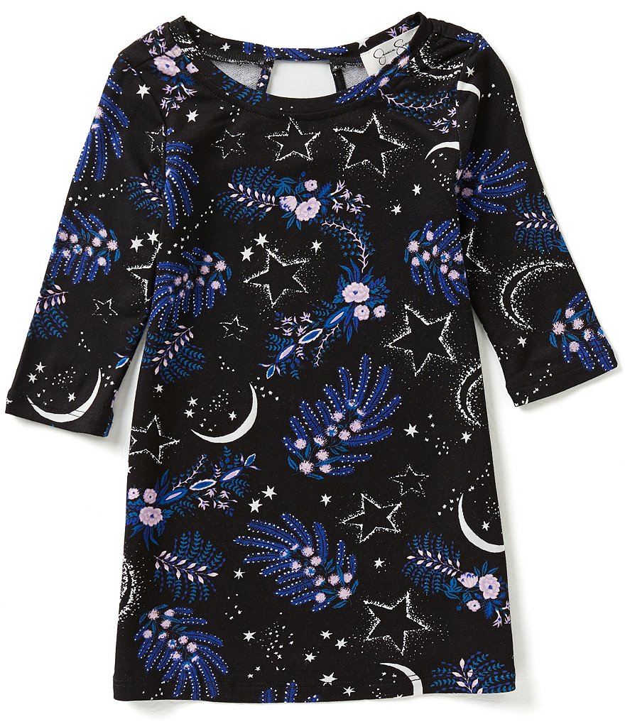 Jessica Simpson Little Girls 2T-6X Enya Printed Dress