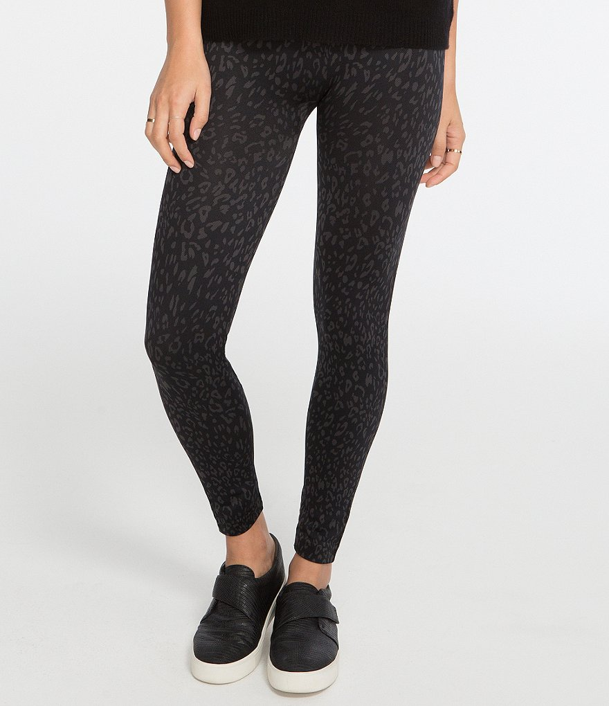 Spanx Plus Cheetah-Print Seamless Leggings