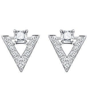 Swarovski Funk Pavé Chevron Stud Earrings