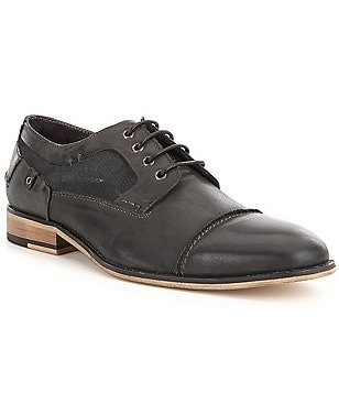 Steve Madden Men´s Jagwar Leather & Suede Lace Up Dress Oxfords