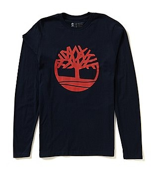 Timberland Kennebec Tree Logo Graphic Long-Sleeve Tee