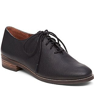 Lucky Brand Castener Leather Lace Up Oxfords