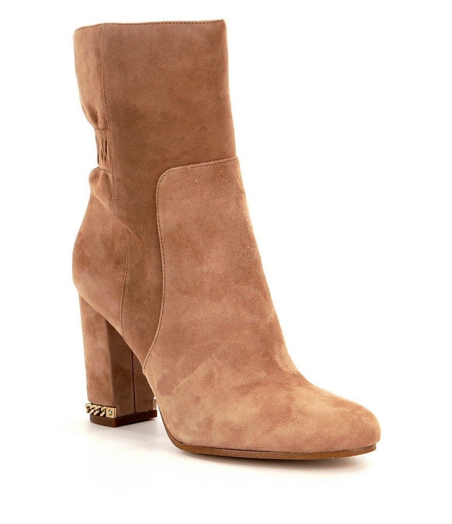 MICHAEL Michael Kors Dolores Rouched Suede Booties
