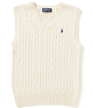 Ralph Lauren Childrenswear Little Boys 2T-7 Cable-Knit Vest